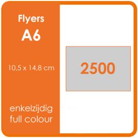 Formaat A6 (10,5 x 14,8 cm) 135gr, offset enkelzijdig full colour,  2.500 stuks.