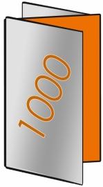 1000 X Din Lang 9.8 x 21cm zigzagvouw 6-zijdig 135gr.