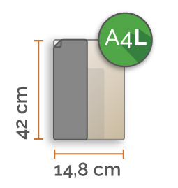 A4 lang Vinyl stickers min. 2 stuks (14,8 cm x 42,0 cm)