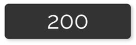 200 X A5 Lang 10.5x29.7cm enkelzijdig full colour
