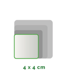 Vierkant  stickers Vinyl  4x4cm min. 40 Stuks