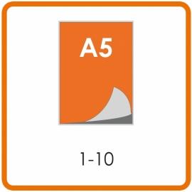 1-10 A5 Lamineren 350mic