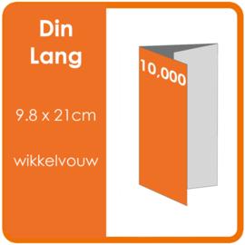 Folders,  eindformaat: Din Lang 9.8 x 21cm. vouwwijze: Wikkelvouw 6-zijdig. bedrukking: dubbelzijdig full colour. materiaal: 300gr. aantal: 10,000 st.