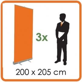3 X Rollup 200 x 205cm
