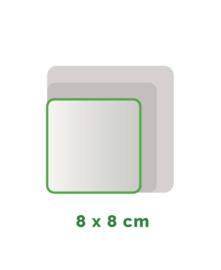 Vierkant Outdoor Premium stickers 8 X 8 cm 4/0 full colour, enkelzijdig bedrukt, CMYK