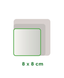 Vierkant  stickers Vinyl  8x8cm min. 12 stuks