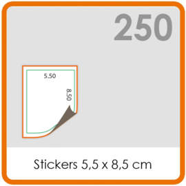 Stickers op rol - Stickers 5,5 x 8,5 cm - 250 stk.