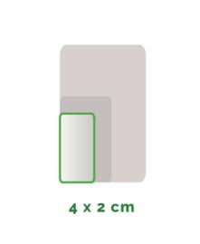 Outdoor Premium stickers, Formaat 4x2 cm  , full colour, enkelzijdig bedrukt