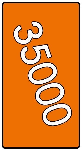 35000 X Din Lang 9.8x21cm offset enkelzijdig full colour 135gr. mat