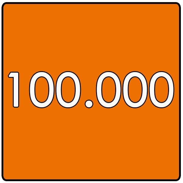 100.000 X Vierkant 14.8x14.8cm offset enkelzijdig full colour 135gr. glans