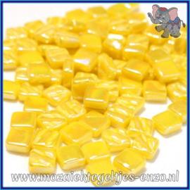 Glasmozaiek Pixel steentjes - Ottoman Parelmoer - 0,8 x 0,8 cm - Enkele Kleuren - per 50 gram - Yellow Opal