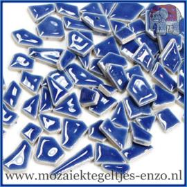 Keramische mozaiek steentjes - Keramiek Puzzel Stukjes Normaal - Enkele Kleuren - per 50 gram - Delphinium