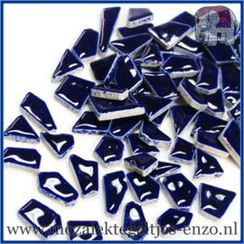 Keramische mozaiek steentjes - Keramiek Puzzel Stukjes Normaal - Enkele Kleuren - per 50 gram - Indigo