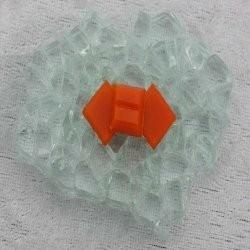 "- Vitreous 1 x 1 cm - Mini Dark-Orange-""S"""