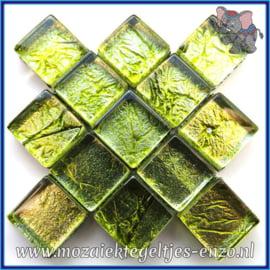 Glasmozaiek tegeltjes - Foil - 1 x 1 cm - Enkele Kleuren - per 50 gram - Mini Arsenic