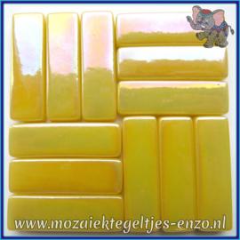 Glasmozaiek steentjes - Stix Rechthoekjes Staafjes XL Parelmoer - 12 x 38 mm - Enkele Kleuren - per 50 gram - Corn Yellow