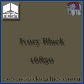 Binnen wandtegel Royal Mosa - Glanzend - 15 x 15 cm - per 1 stuk - Ivory Black 16850