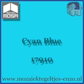 Binnen wandtegel Royal Mosa - Glanzend - 7,5 x 7,5 cm - Op maat gesneden - Cyan Blue 17910
