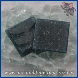 Glasmozaiek tegeltjes - Basic Line - 2 x 2 cm - Enkele Kleuren - per 20 steentjes - Dark Denim A58