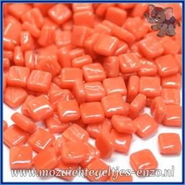 Glasmozaiek Pixel steentjes - Ottoman Normaal - 0,8 x 0,8 cm - Enkele Kleuren - per 50 gram - Orange Red