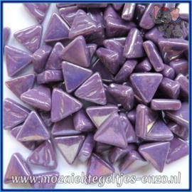 Glasmozaiek steentjes - Art Angles Parelmoer - 10 mm - Enkele Kleuren - per 50 gram - Bright Purple