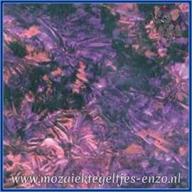 Plaatglas - Van Gogh Glass Normaal - 5 x 10 cm - Gemixte Kleuren - per 1 stuk - Purple Red