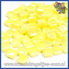 Glasmozaiek Pixel steentjes - Ottoman Parelmoer - 0,8 x 0,8 cm - Enkele Kleuren - per 50 gram - Daffodil Yellow