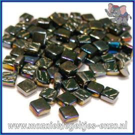 Glasmozaiek Pixel steentjes - Ottoman Parelmoer - 0,8 x 0,8 cm - Enkele Kleuren - per 50 gram - Deep Green
