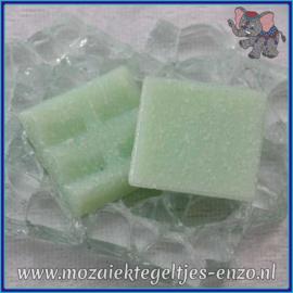 Glasmozaiek tegeltjes - Basic Line - 2 x 2 cm - Enkele Kleuren - per 20 steentjes - Pistachio Green A21
