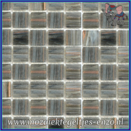 Glasmozaiek tegeltjes - Gold Line - 2 x 2 cm - Enkele Kleuren - per 20 steentjes - Night Stream