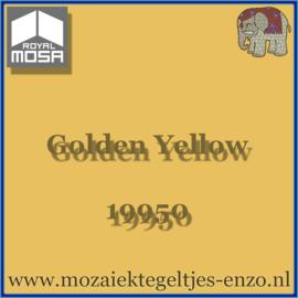 Binnen wandtegel Royal Mosa - Glanzend - 15 x 15 cm - per 44 stuks (1m2)  - Op bestelling - Golden Yellow 19950