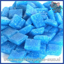 Glasmozaiek tegeltjes - Basic Line - 1 x 1 cm - Enkele Kleuren - per 60 steentjes - Mini Deep Turquoise A15