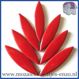 Keramische mozaiek steentje - Keramiek Petals Bloemblad XL Normaal - 15/60 mm - Enkele Kleuren - per 1 stuk - Poppy Red