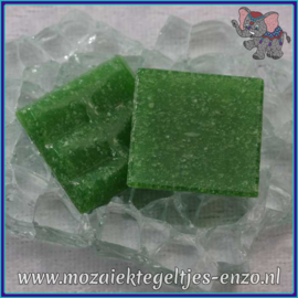 Glasmozaiek tegeltjes - Basic Line - 2 x 2 cm - Enkele Kleuren - per 20 steentjes - Bright Green A25