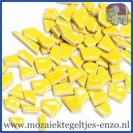 Keramische mozaiek steentjes - Keramiek Puzzel Stukjes Normaal - Enkele Kleuren - per 50 gram - Yellow