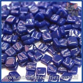 Glasmozaiek Pixel steentjes - Ottoman Normaal - 0,8 x 0,8 cm - Enkele Kleuren - per 50 gram - Royal Blue