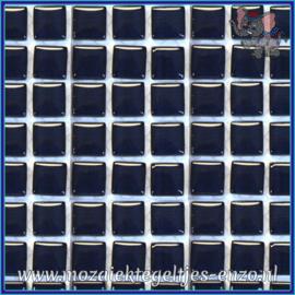 Glasmozaiek tegeltjes - Murrini Crystal - 1 x 1 cm - Enkele Kleuren - per 60 steentjes - Mini Indigo Depth