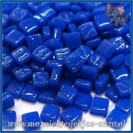 Glasmozaiek Pixel steentjes - Ottoman Normaal - 0,8 x 0,8 cm - Enkele Kleuren - per 50 gram - Brilliant Blue