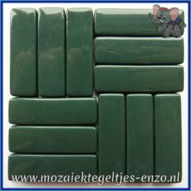 Glasmozaiek steentjes - Stix Rechthoekjes Staafjes XL Normaal - 12 x 38 mm - Enkele Kleuren - per 50 gram - Deep Green