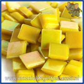 Glasmozaiek tegeltjes - Parelmoer - 1 x 1 cm - Enkele Kleuren - per 60 steentjes - Mini Yellow Citirine