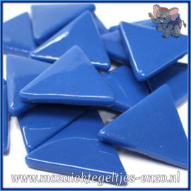 Glasmozaiek steentjes - Art Angles Normaal - 29 mm - Enkele Kleuren - per 1 stuk - Dark Lake Blue