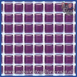 Glasmozaiek tegeltjes - Murrini Crystal - 1 x 1 cm - Enkele Kleuren - per 60 steentjes - Mini Grape
