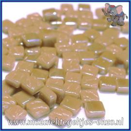 Glasmozaiek Pixel steentjes - Ottoman Parelmoer - 0,8 x 0,8 cm - Enkele Kleuren - per 50 gram - Khaki Grey