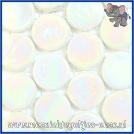 Glasmozaiek steentjes - Radiant Round Parelmoer - 18 mm - Enkele Kleuren - per 1 stuk - Siberia