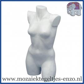 Piepschuim/Styropor - Torso vrouw - Damesbuste zonder armen
