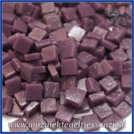 Glasmozaiek Pixel steentjes - Ottoman Matte - 0,8 x 0,8 cm - Enkele Kleuren - per 50 gram - Deep Purple