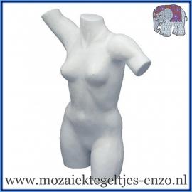 Piepschuim/Styropor - Torso vrouw - Damesbuste met armen