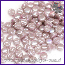 Glasmozaiek Pixel steentjes - Darling Dotz Parelmoer - 0,8 cm - Enkele Kleuren - per 50 gram - Lilac