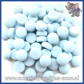 Glasmozaiek steentjes - Optic Drops Matte - 12 mm - Enkele Kleuren - per 50 gram - Aqua