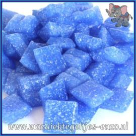 Glasmozaiek tegeltjes - Basic Line - 1 x 1 cm - Enkele Kleuren - per 60 steentjes - Mini Sky Blue A18